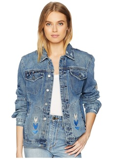 Blank Embroidered Denim Jacket in Pub Crawl