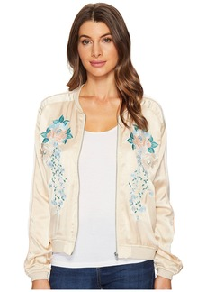Blank Embroidered Jacket in Pink Lady