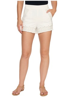 Blank Embroidered Shorts in Snow Flake