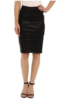 Blank Faithful Pencil Vegan Leather Skirt in Pussy Cat