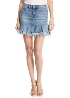 Blank Fancy That Flounce-Hem Denim Skirt