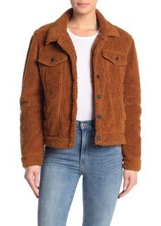 Blank Faux Fur Crop Jacket