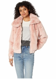 Blank Faux Fur Jacket in Internet Hobo