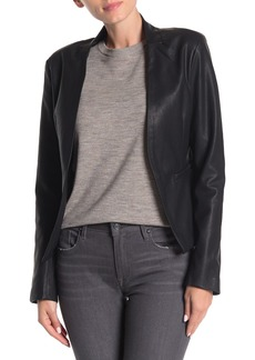 Blank Faux Leather Blazer