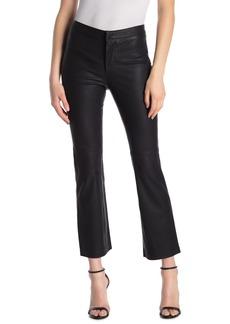 Blank Faux Leather Crop Pants