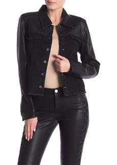 Blank Faux Leather & Denim Jacket