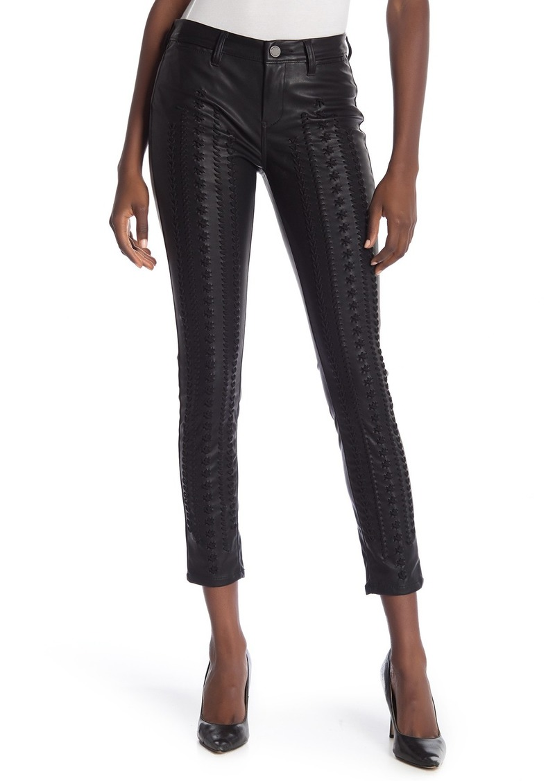 Blank Faux Leather Lace-Up Skinny Pants