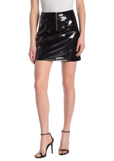 Blank Faux Leather Mini Skirt