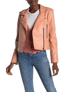 Blank Faux Leather Moto Jacket