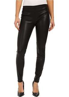 Blank Faux Leather Pull On Skinny