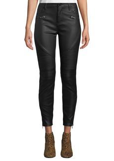Blank Faux-Leather Skinny Moto Pants