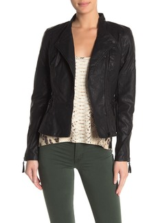 Blank Faux Leather Vegan Moto Jacket