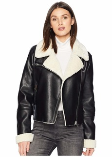 Blank Faux Sherpa Jacket in Silent Night