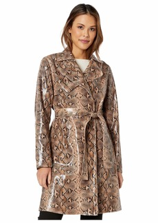 Blank Faux Snakeskin Trench Coat in Anaconduh