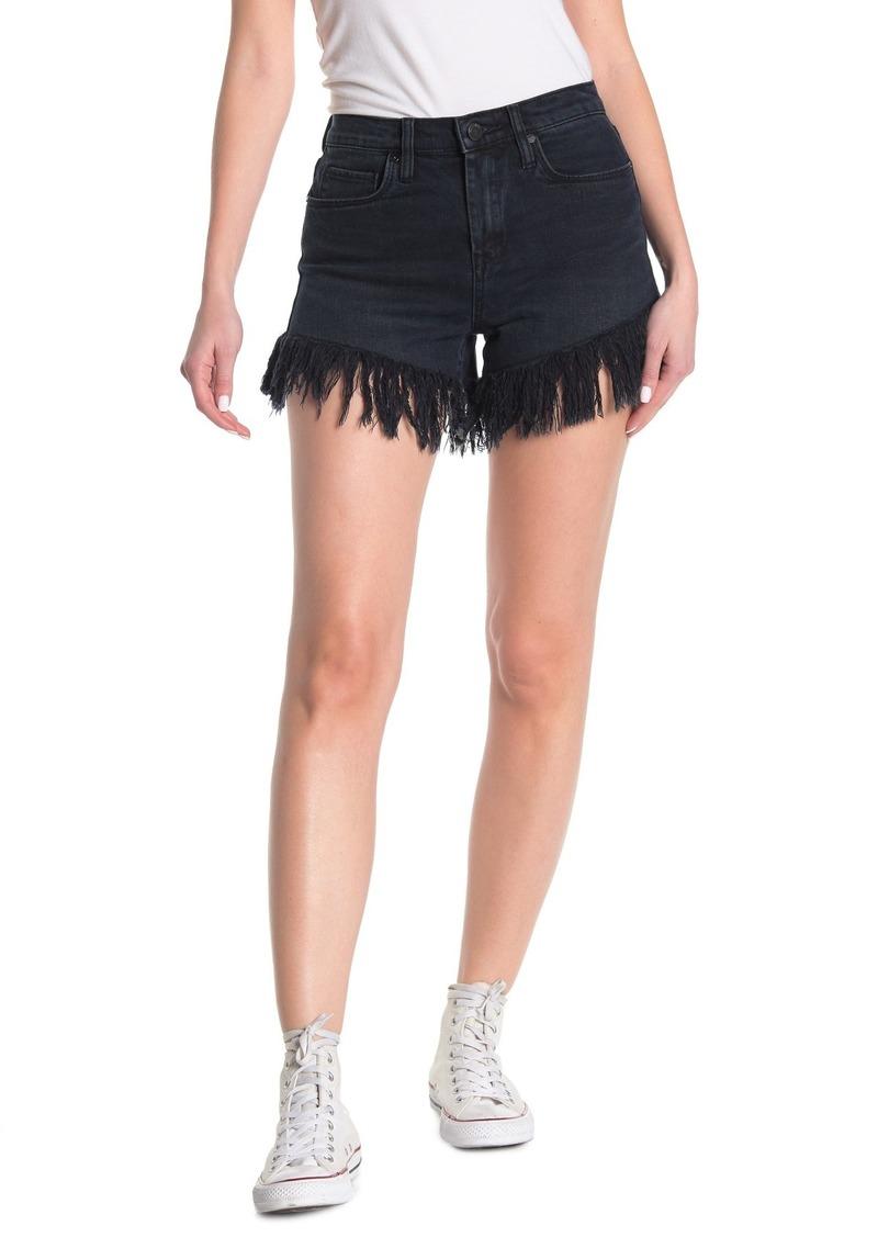 Blank Frayed Hem Denim Shorts