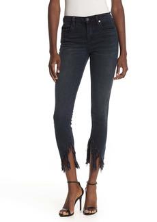 Blank Fray Hem Skinny Jeans