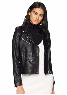 Blank Genuine Leather Moto Jacket in Vice Lord