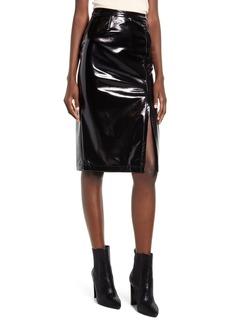 Blank Getaway Car Faux Leather Pencil Skirt