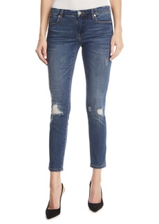 Blank Great Escape Mid-Rise Distressed Skinny Jeans