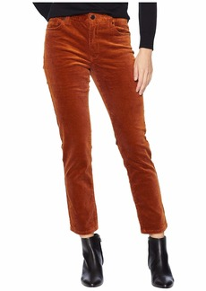 Blank High-Rise Crop Skinny Corduroy in Clockwork Copper