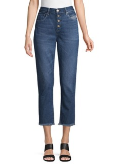 Blank High-Rise Cropped Jeans