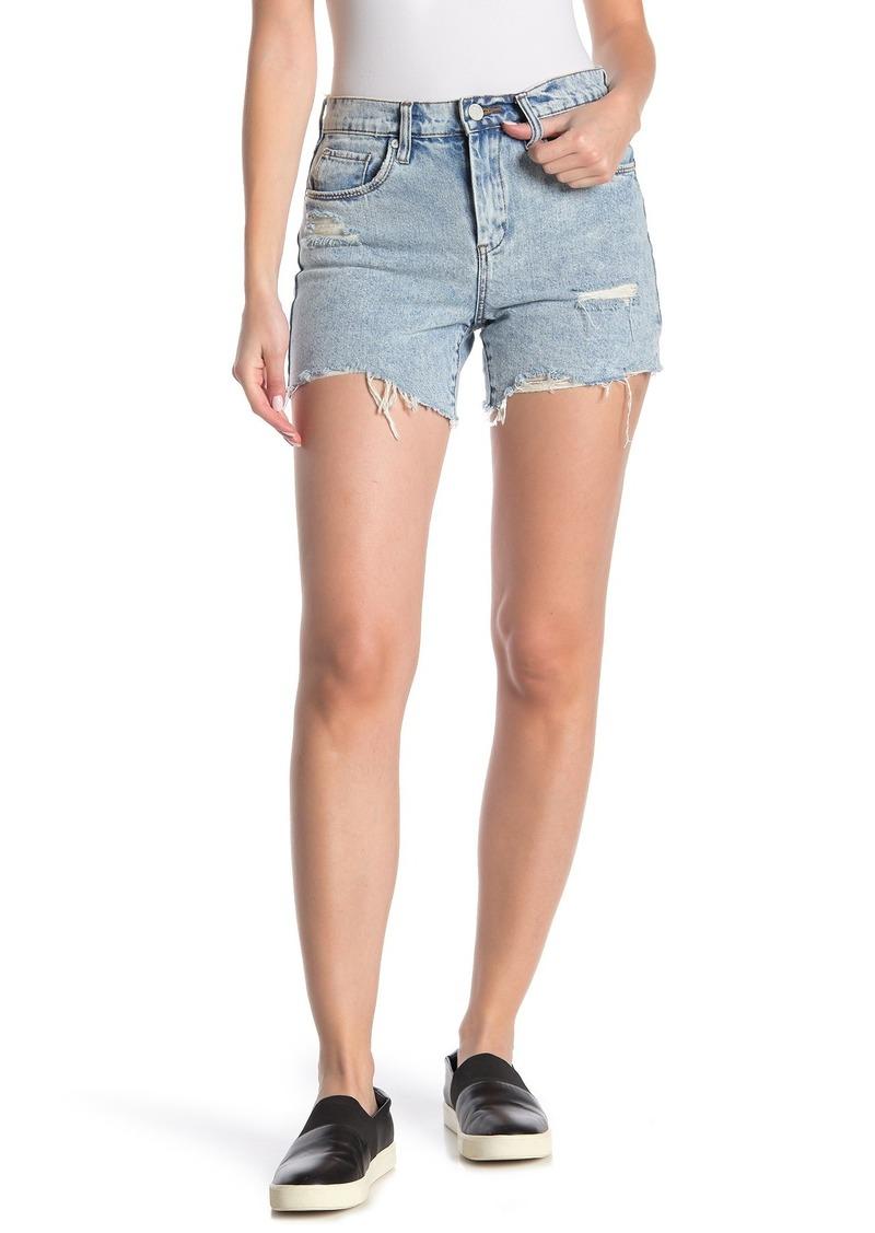 Blank High Rise Destressed Denim Shorts