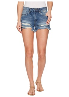 Blank High-Rise Distressed Shorts in Poster Child