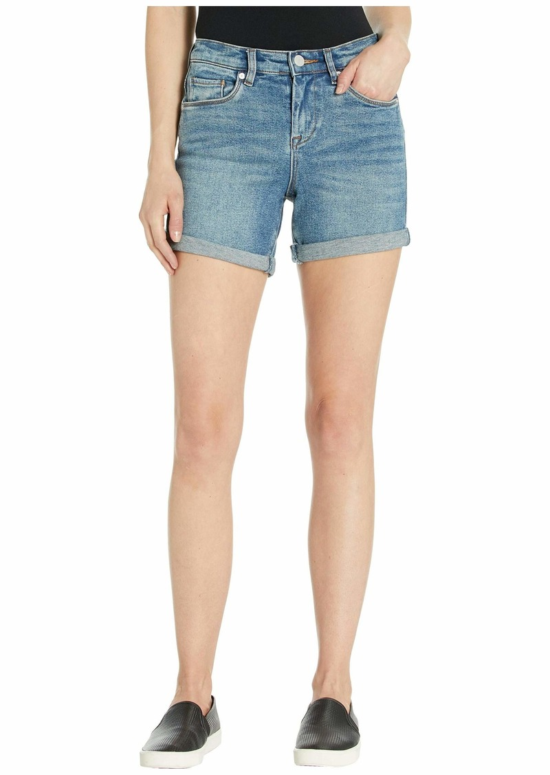 Blank High-Rise Roll Up Shorts in Star Bursts