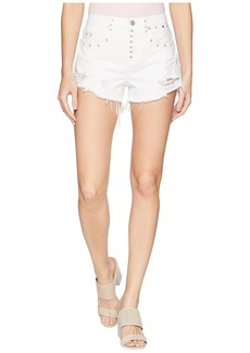 Blank High-Rise Shorts in Lightbox White