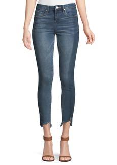 Blank High-Rise Step-Hem Jeans