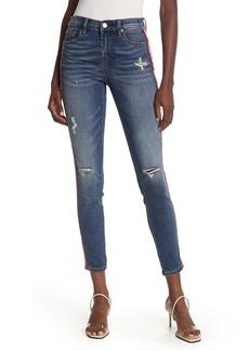 Blank High Waisted Side Stripe Skinny Jeans