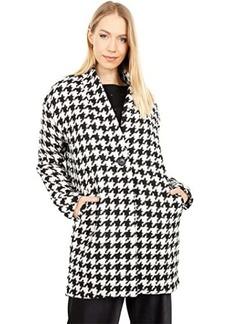 Blank Houndstooth Cocoon Coat