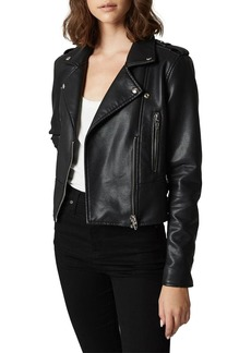 Blank It Takes Two Vegan Leather Moto Jacket