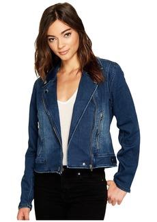 Blank Jersey Blue Moto Jacket in Hello Moto