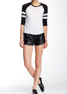 Blank Laser Cut Faux Leather Short