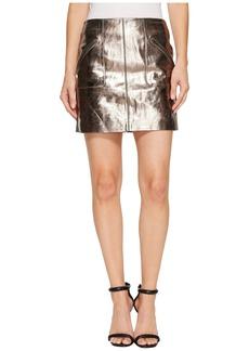Blank Metallic Skirt in Mercury