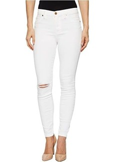 Blank Mid-Rise Distressed Skinny in Great White