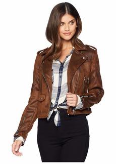 Blank Moto Jacket in Brownie Bite