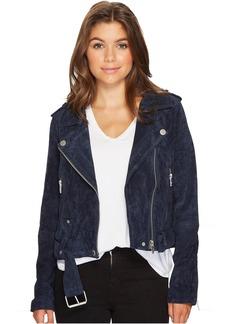 Blank Navy Blue Moto Jacket in Blue Valentine