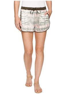 Blank Novelty Detailed Drawstring Shorts in Green Beaner