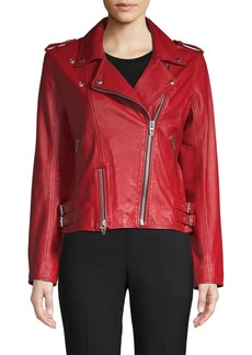 Blank Old Flame Leather Moto Jacket