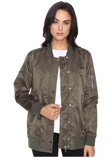 Blank Olive Bomber Jacket in Flexible