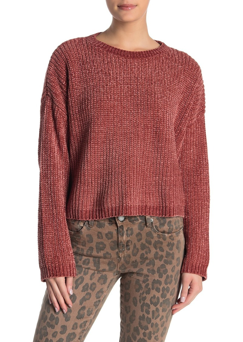 Blank Open Back Knit Sweater