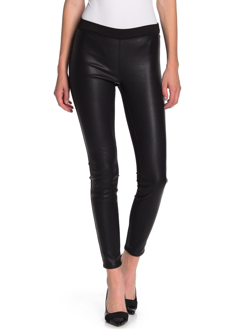 Blank Pull-On Faux Leather Leggings