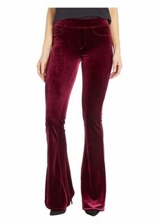 Blank Pull-On Velvet Flare Pants in Identity Crisis