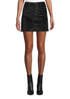 Blank Raven Feather Velvet Mini Skirt