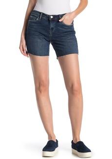 Blank Raw Hem Denim Shorts