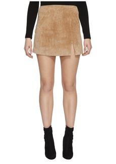 Blank Real Suede Mini Skirt in Desert Sand