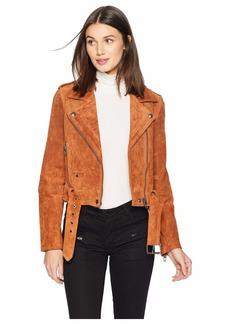 Blank Real Suede Moto Jacket in El Dorado