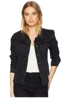 Blank Released Hem Black Denim Jacket in Child's Play